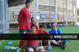 Baichung Bhutia, Chris Punnakkattu Daniel, Renedy Singh, Sunil Chhetri and Arunava Chaudhuri