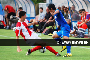 Baichung Bhutia in action