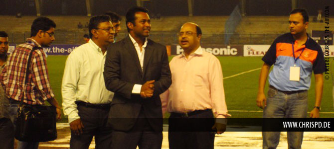 Leander Paes at the I-League opening ceremony