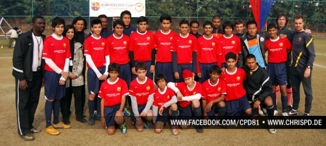 Indian players at the FCBEscola