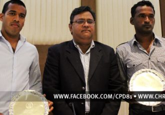 AIFF felicitates Mahesh Gawli and Climax Lawrence