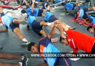 Team India at the gym