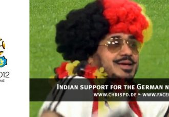 Indian support for the German national team