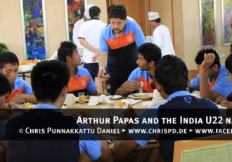 Arthur Papas and the India U22 national team