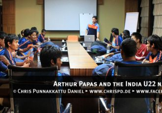 Arthur Papas and the India U22 boys