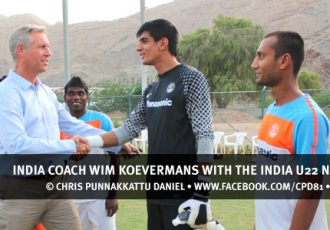 India coach Wim Koevermans with the India U22 national team