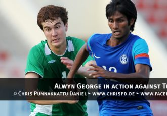 Alwyn George in action against Turkmenistan
