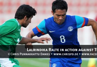 Lalrindika Ralte in action against Turkmenistan