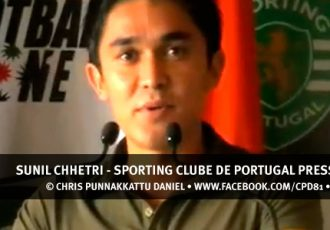 Sunil Chhetri - Sporting Clube de Portugal Press Conference