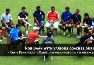 Rob Baan with various coaches during a seminar