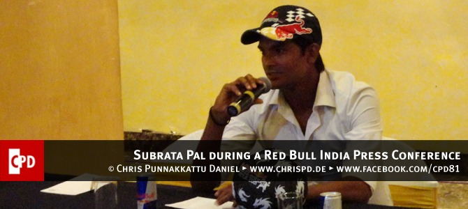 Subrata Pal during a Red Bull India Press Conference