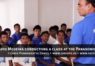 Savio Medeira conductiing a class at the Panasonic Dream Camp
