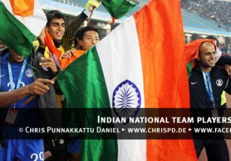 Indian national team players celebrating