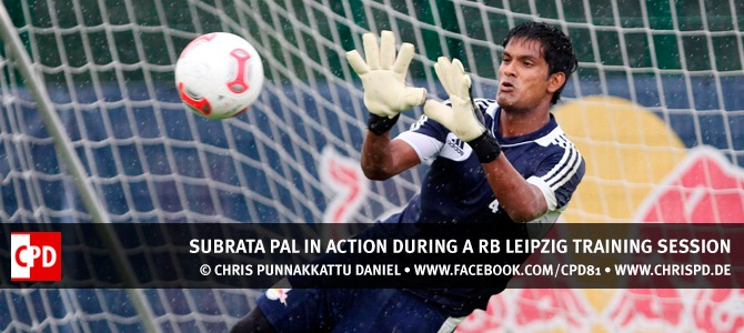 Subrata Pal during a RB Leipzig training session