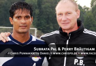 Subrata Pal & Perry Bräutigam at RB Leipzig