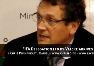 FIFA Delegation led by Valcke arrives in New Delhi