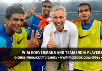 Wim Koevermans and Team India Players celebrating