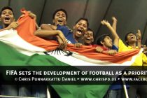 FIFA sets the development of football in India as a priority objective