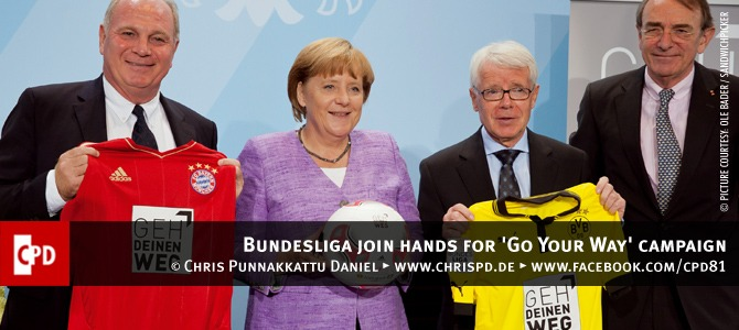 Bundesliga join hands for 'Go Your Way' campaign