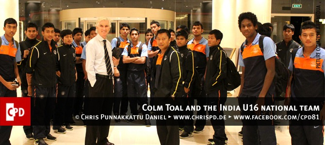 Colm Toal and the India U16 national team