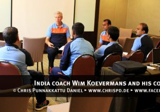 India coach Wim Koevermans and his coaching staff