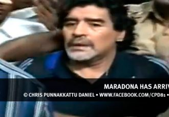 Maradona has arrived in Kerala