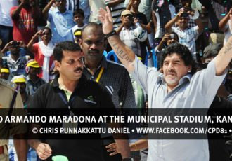Diego Armando Maradona at the Municipal Stadium, Kannur (Kerala)