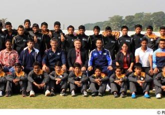 AFC Technical Director Jim Selby with the AIFF Regional Academy boys and coaches