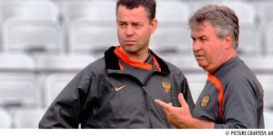 Raymond Verheijen and Guus Hiddink