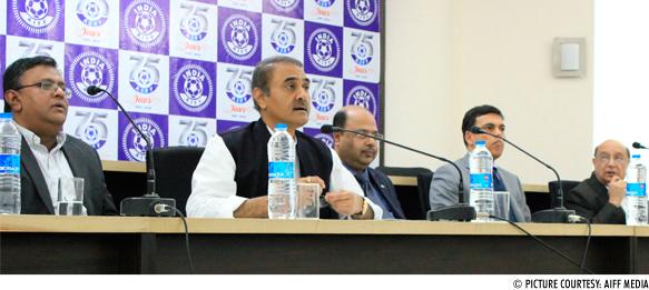 Kushal Das, Praful Patel, Subrata Dutta, Sajjan Jindal and Hardev Jadeja