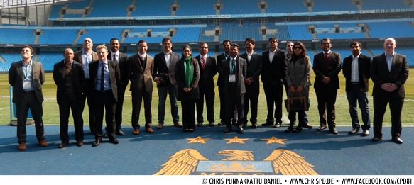 Manchester City FC hosts Indian delegation at the Etihad Stadium
