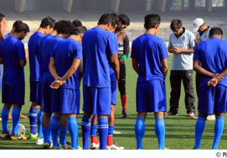 Subhash Bhowmick and Churchill Brothers SC team