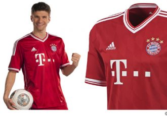 FC Bayern München - The new 2013/14 home jersey