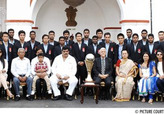 Churchill Brothers SC felicitated by the Governor of Goa