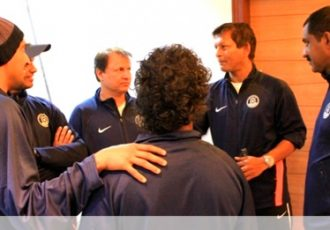 Derrick Pereira with other coaches