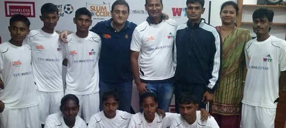 Team India at the 2013 Homeless World Cup