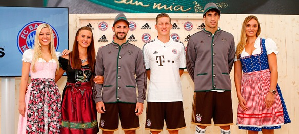 New lederhosen-style kit for FC Bayern Munich » The Blog » CPD ... eaa28a398