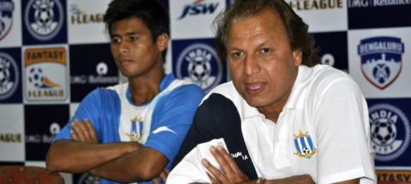 Santosh Kashyap coach Rangdajied United FC meeting the media