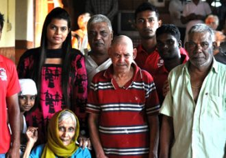 Churchill Brothers team visits an Old Age Home