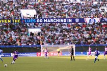 Bengaluru FC fans cheering during a home game