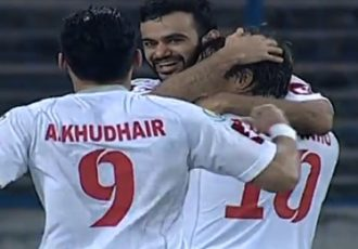 Kuwait SC players celebrating