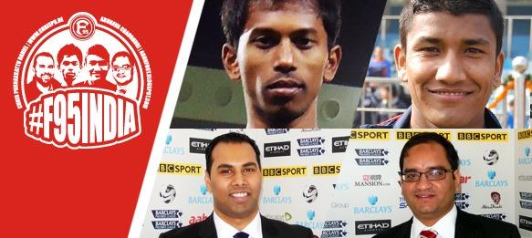 #F95India – Godwin Franco, Nirmal Chettri, Chris Punnakkattu Daniel and Arunava Chaudhuri at Fortuna Düsseldorf