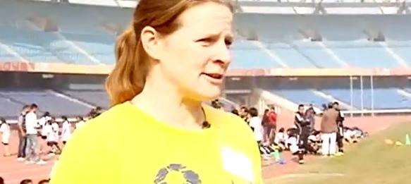 Cindy Parlow Cone coaches 120 Delhi girls