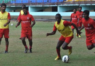 Churchill Brothers SC training session