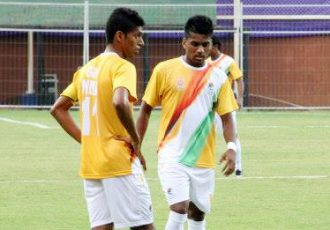 Brandon Fernandes in action for Goa-India