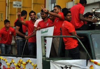 Federation Cup champions Churchill Brothers SC arrive in Goa