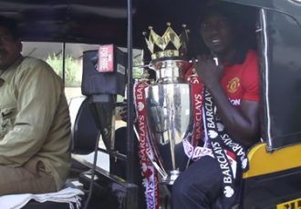 Dwight Yorke and the Manchester United Trophy Tour in India