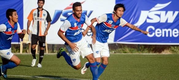 Robin Singh celebrates his Bengaluru FC goal