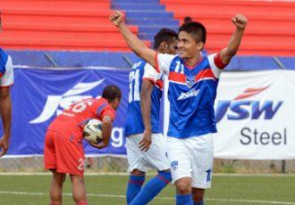 Sunil Chhetri celebrates his goal