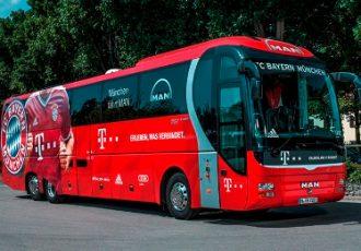 FC Bayern Munich team bus
